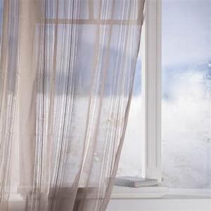 Rideau Voilage Lin : rideau voilage lisa 140x240cm lin ~ Teatrodelosmanantiales.com Idées de Décoration