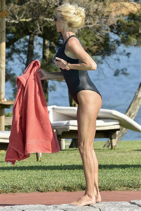 victoria silvstedt dons a black swimsuit while holidaying ...