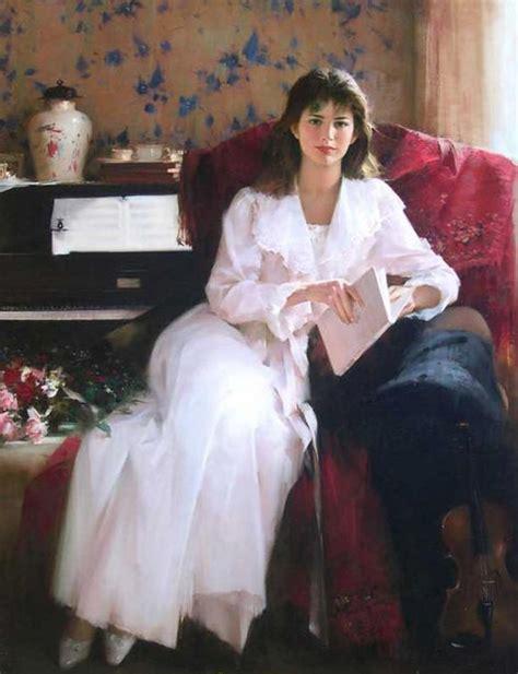 romantic paintings  women