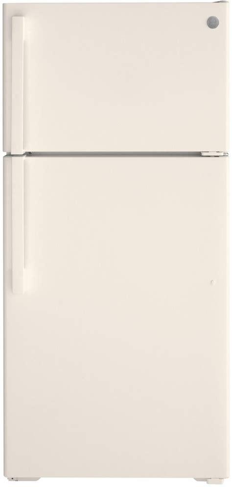 ge  cu ft bisque top freezer refrigerator gtedtnrcc spencers tv appliances