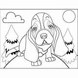Hound Basset Sad Coloring Printable Dogs Pages Freeprintablecoloringpages Clip Morosely Dog Heart Print sketch template