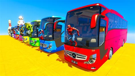 Learn Color Giant Bus Jump Cartoon For Kids And Babies 3d