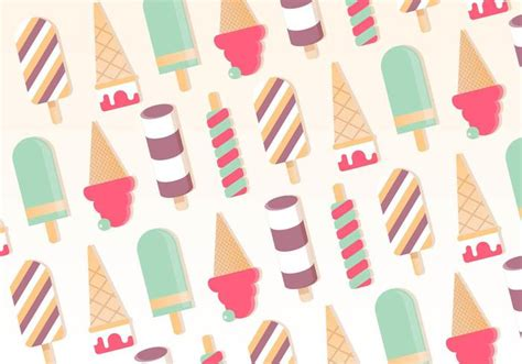 Free Vector Ice Cream Pattern Background  Download Free
