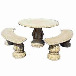 Plateau De Table Leroy Merlin : salon bas de jardin alamo ocre 1 table ronde 2 bancs ~ Dailycaller-alerts.com Idées de Décoration