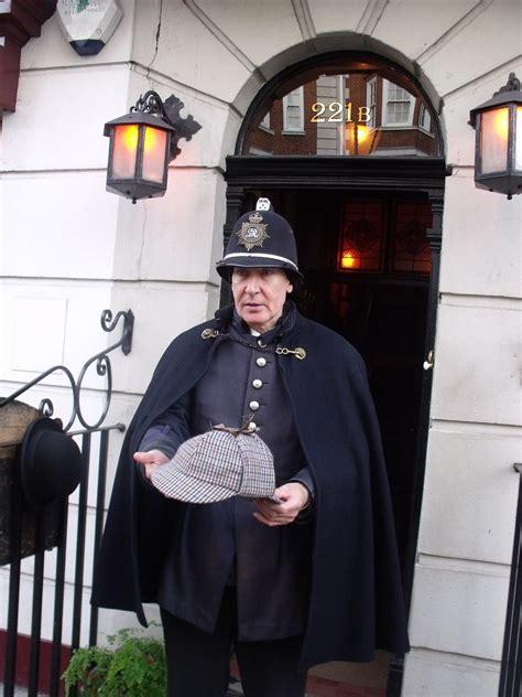 sherlock holmes victorian london museum street baker policeman 221b