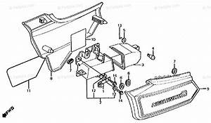 Honda Motorcycle 1986 Oem Parts Diagram For Side Cover