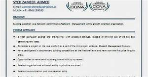 Network Engineer Objective Sample Ccna Resume For Freshers