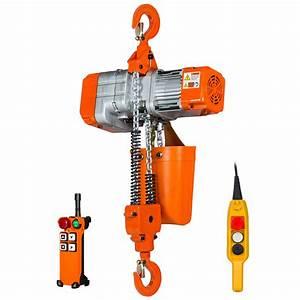 1 Ton Electric Chain Hoist 20 Ft  Fec G80 Chain M3  H2 220