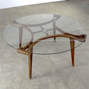 50s william watting round design coffee table for With 50 round coffee table