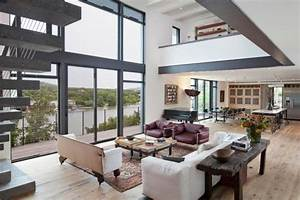 salon contemporain et tendance d39ambiance cocon With tapis de sol avec canapé design confortable