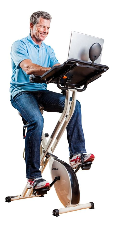 fitdesk exercise bike with desk and bar