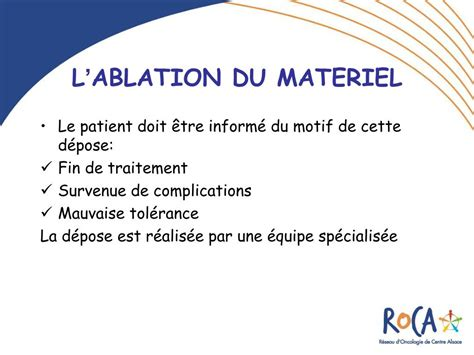 ablation chambre implantable ppt les chambres a catheter implantables cci