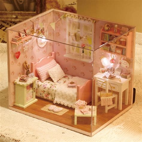 diy wooden miniature doll house furniture toy miniatura