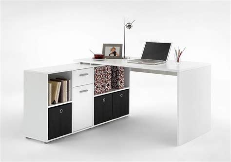 bureau avec bibliotheque de rangement blanc