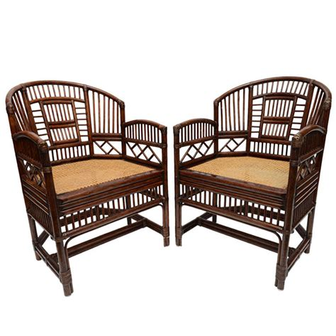 pair of vintage bamboo rattan barrel chairs at 1stdibs