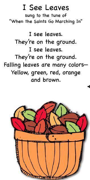 smart fall songs children s songs and poems 723 | 5ec7d74bca2f547e9d4179bd77b134c3 preschool fall songs kids songs