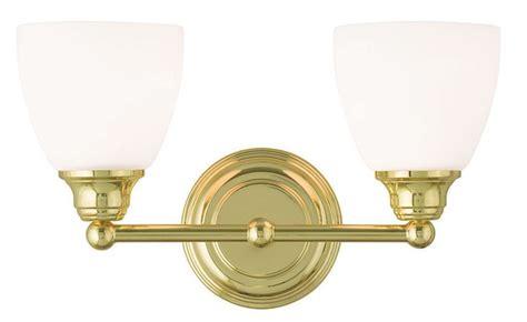 2 light polished brass somerville livex bathroom vanity