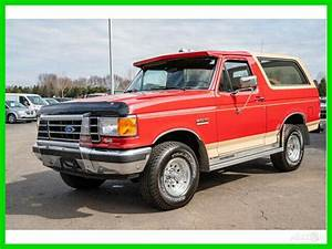 1991 Ford Bronco Eddie Bauer 5.8L V8 Automatic 4WD 1-Owner 91 29k Miles