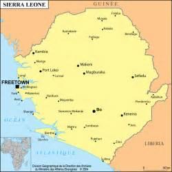 Carte de Sierra Leone avec Google Maps Sierra Leone