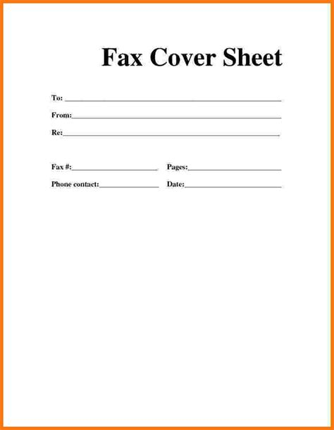 How To Make A Cover Sheet For Your Resume by 6 How To Make A Fax Cover Sheet Itinerary Template Sle