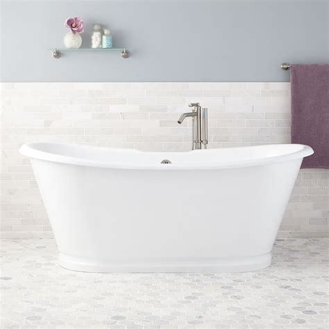 tub of 71 quot kagon bateau cast iron skirted tub freestanding tubs
