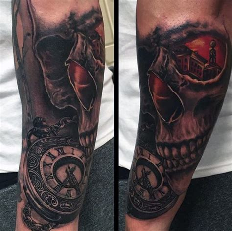 pocket  tattoo designs  men cool timepieces