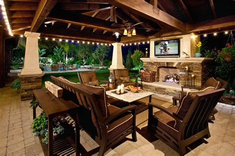 outdoor covered patio lighting patio mediterranean with