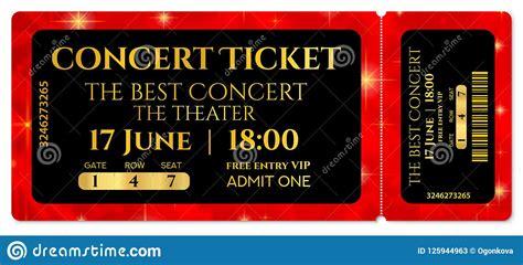 ticket template concert ticket  stars tear  ticket