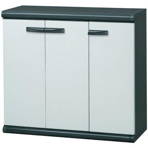 armoire resine pas cher armoire basse en r 233 sine 3 portes beige maison fut 233 e