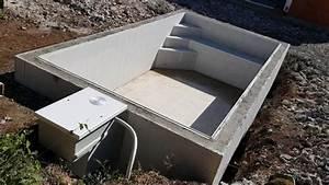 piscine beton 6 x 3 fond plat 15m avec mur filtrant a With plan de piscine beton
