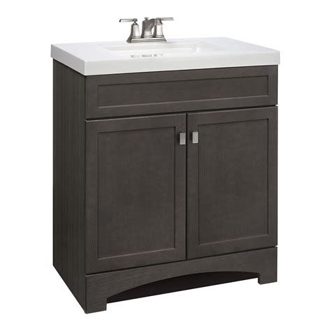 Shop For Vanity by Shop Style Selections Drayden Grey Integral Single Sink