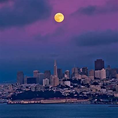 Francisco San Biru Langit Senja Ipad Moon