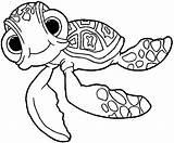 Coloring Nemo Finding Pages Turtle Squirt Disney Sheets Pixar Disimpan Dari sketch template