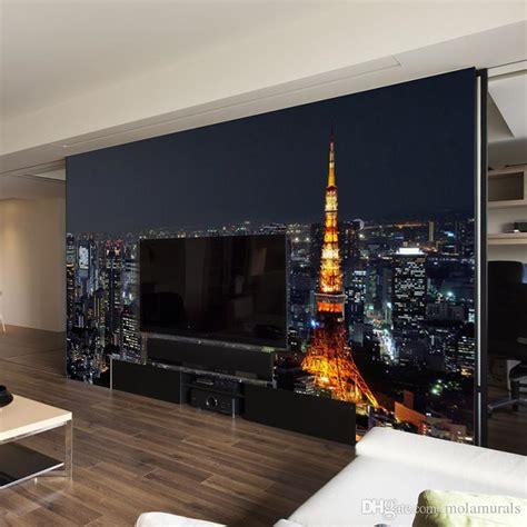 custom  wall mural wallpaper city night view modern