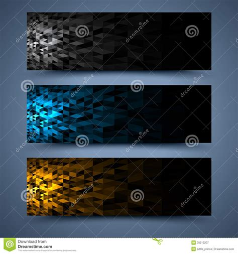 solor banners templates abstract backgrounds royalty