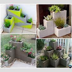 # Diy Ecke Cinder Block Pflanzer10 Einfache Cinder Block