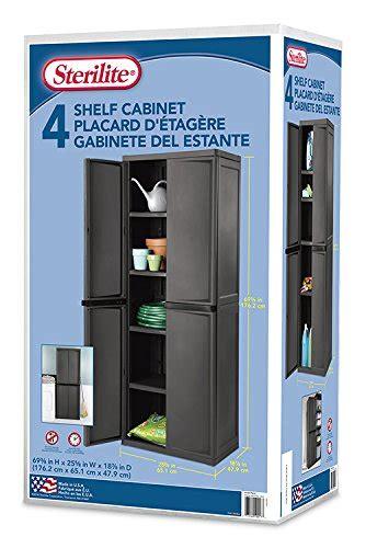 sterilite 01423v01 4 shelf cabinet sterilite 01423v01 4 shelf cabinet flat gray cabinet w