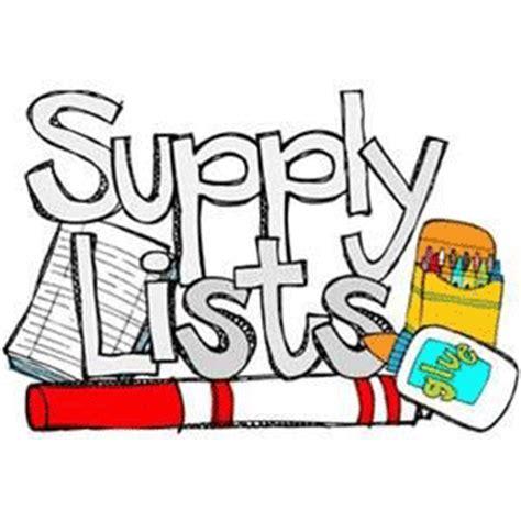 supply lists supply lists