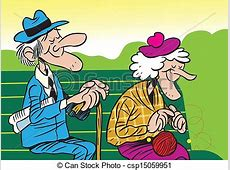 Clipart Vector of elderly couple The illustration shows