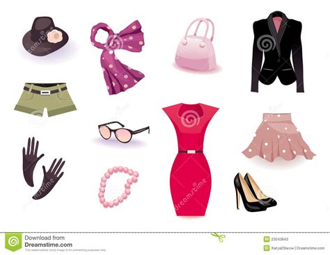 vector set icon  clothes  accessories stock vector