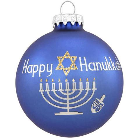 happy hanukkah with glitter glass ornament religious christmas ornaments 10