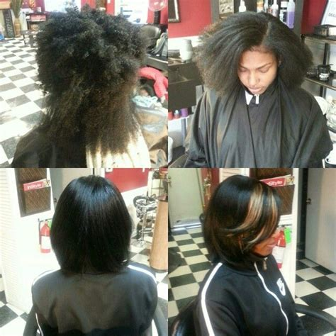 Coloring Relaxed Hair by Hair Color Silk Pressed Trimmed Colllorrrr