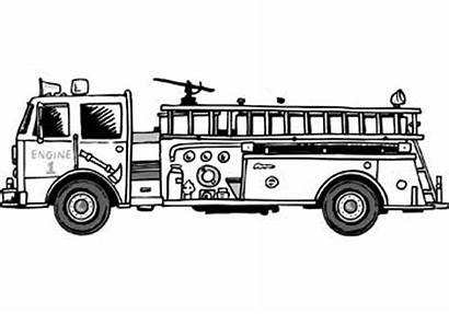 Coloring Fire Truck Pages Printable Trucks Cars