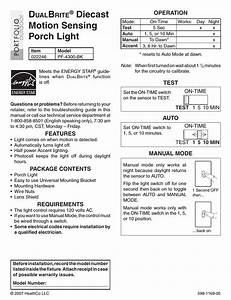 Heath Zenith Motion Sensing Porch Light Pf