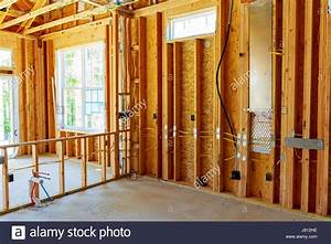 The Frame Building Or A House With Basic Electrical Wiring