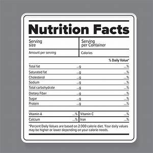 nutrition facts vector label objects creative market With food ingredients label template