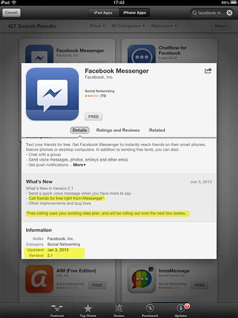 messenger for iphone iphone contacts messenger for iphone to feature