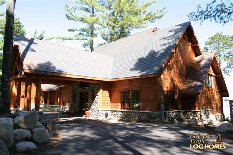 golden eagle log  timber homes log home cabin pictures  minocqua custom hybrid