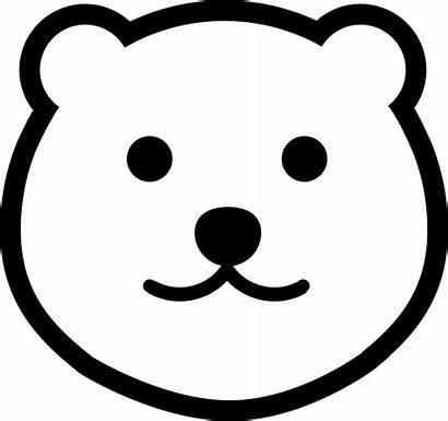 Bear Head Icon Svg Onlinewebfonts