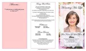printable funeral program templates funeral program template trifold pastel memories